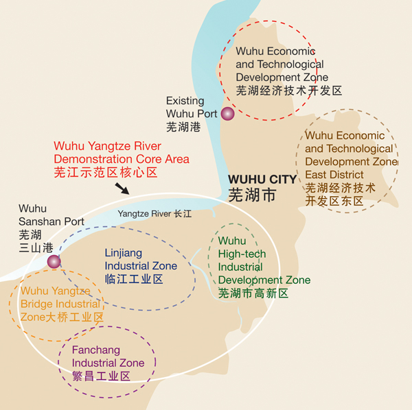 Location map for Wuhu SanShan Port